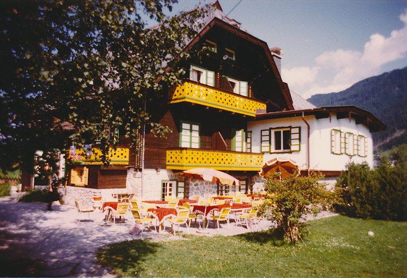 Hotel Harrida Weissensee Frühstücksterrasse Geschichte